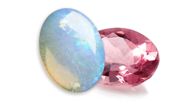 Opal/Pink Tourmaline