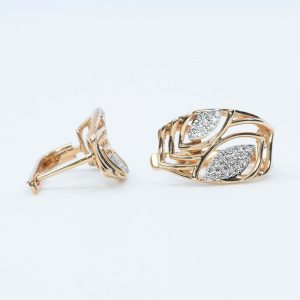 14k Rose Gold Natural Diamond Fashion Earrings