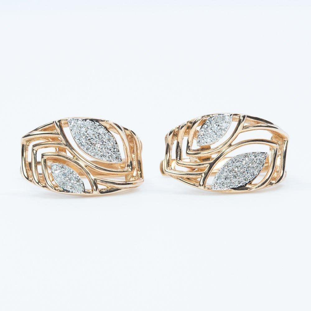 14k Rose Gold Natural Diamond Fashion Earrings