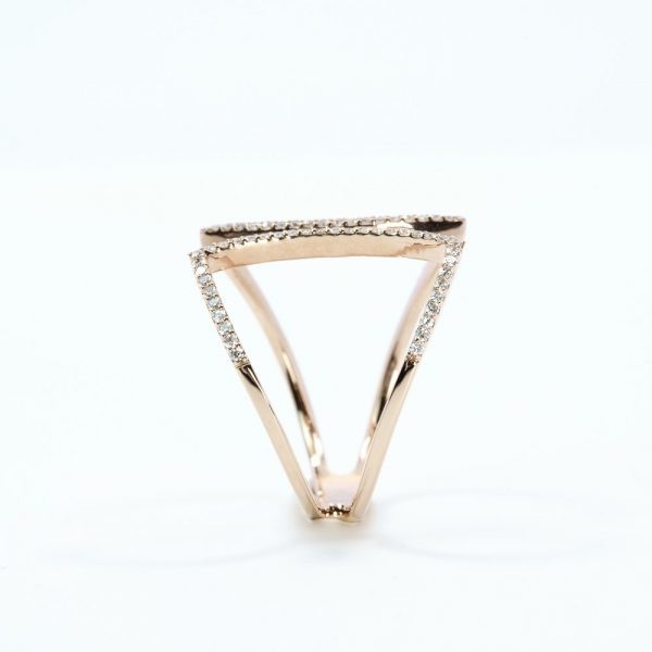 14k Rose Gold Natural Diamond Come Together Ring