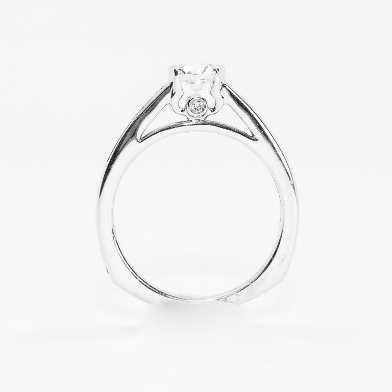 14k White Gold Natural Diamond Ring
