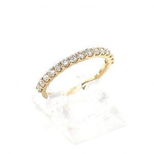 14k Yellow Gold Natural Diamond Ring