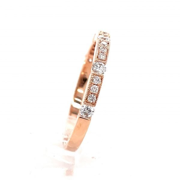14k Rose Gold Natural Diamond Ring