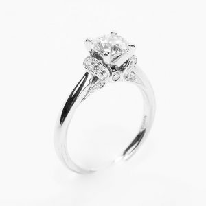 Scott Kay Design 14k White Gold Natural Diamond Semi-Mounting