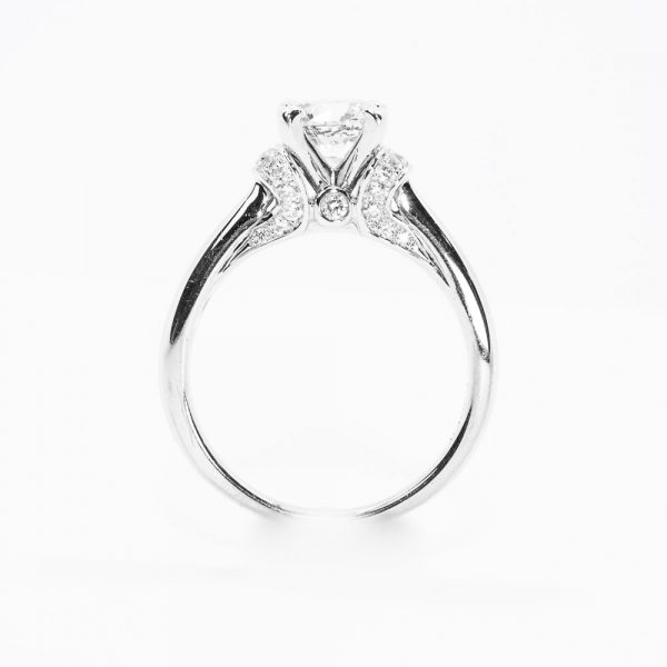 Scott Kay Design 14k White Gold Natural Diamond Semi-Mounting