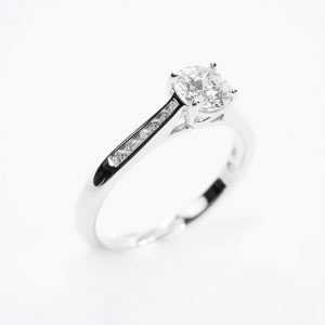 14k White Gold Natural Diamond Semi-Mounting