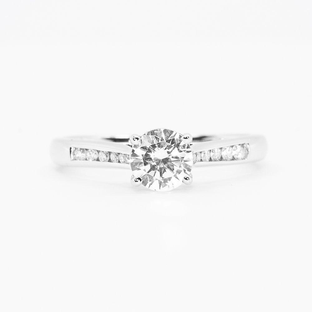 14k White Gold Natural Diamond Semi-Mounting
