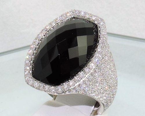 Diamond & Black Onyx Dramatic Fashion Ring