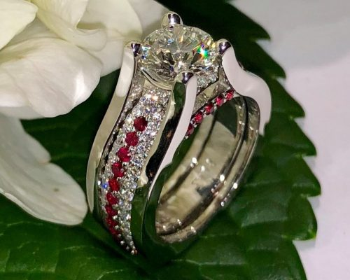 Diamond and Rudy Slip-in Wedding Ring