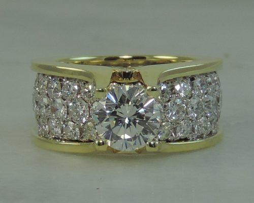 Debbie's Pave Floating Diamond Wedding Ring