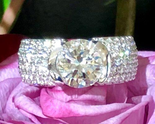 Heidi's 5-Stone Pave Wedding Ring