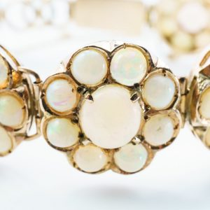 10k Rose Gold Natural Australian Opal Estate Bracelet