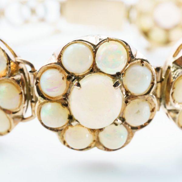 10k Rose Gold Natural Australian Opal Estate Bracelet