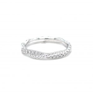 14k White Gold Diamond Braid Ring